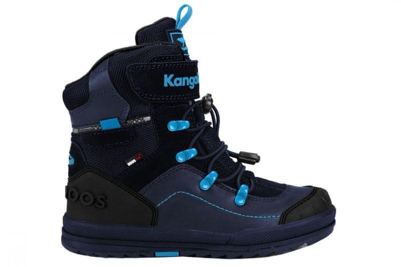 KangaROOS dětská zimní kotníčková obuv Adrian 34 tmavě modrá
