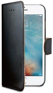 Celly Pouzdro Wally, Apple iPhone 7, PU kůže, černé