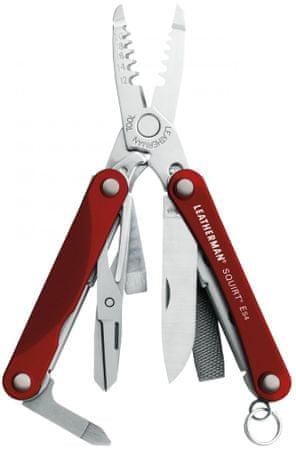 LEATHERMAN multitool Squirt ES4 Red