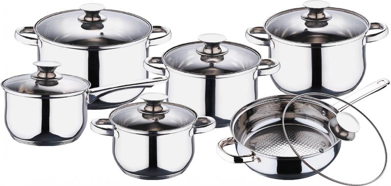 Blaumann Sada nádobí nerez 12 ks BL-1031