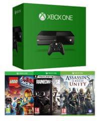 Microsoft Xbox One 500GB + 3 hry