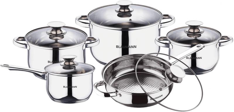 Blaumann Sada nádobí nerez 10 ks BL-1637