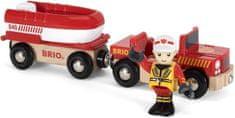 Brio Wóz strażacki z transportem 33859