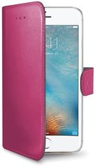Celly Pouzdro Wally, Apple iPhone 7, PU kůže, růžové