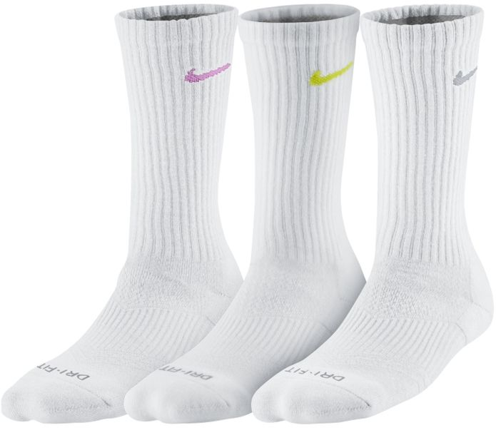 Nike Women's Dri-Fit Cushion (3 Pair) Multi-Color 34-38