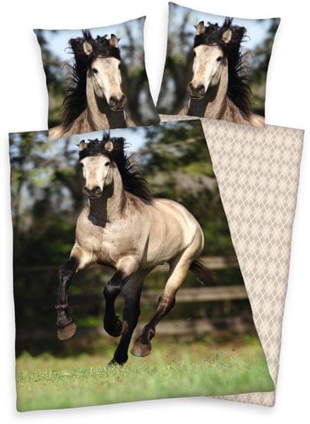 Herding Povlečení bavlna kůň na pastvě