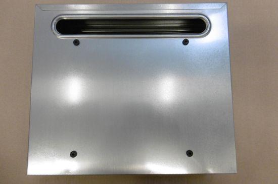 M.A.T. Group schránka pošt.RADIM V 360x310x90mm, zadní vhoz, nerez
