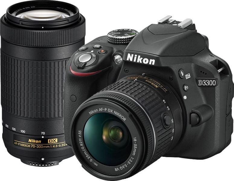 Nikon D3300 + 18-55 AF-P + 70-300