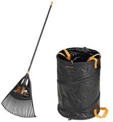 Fiskars Solid Leaf Rake XL+Solid Zahradní koš SET 1019762, záruka 5 let