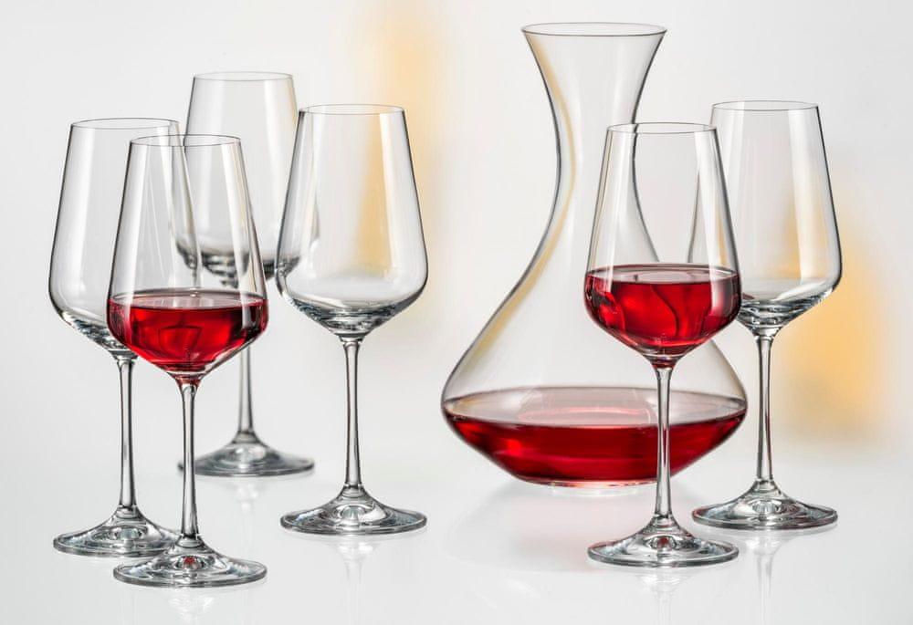 Crystalex set na víno Sandra, 6x 350 ml + 1x 1500 ml