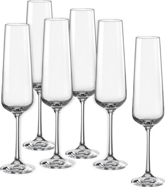 Crystalex sklenice na sekt Sandra 200 ml, 6 ks
