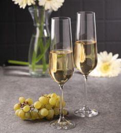 Crystalex kozarci za šampanjec Sandra, 200 ml, 6 kosov