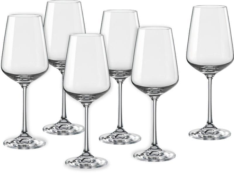 Crystalex sklenice na víno Sandra 250 ml, 6 ks