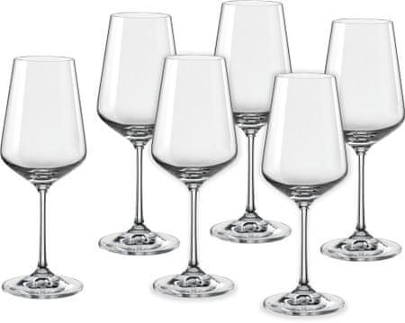Crystalex poháre na víno Sandra 350 ml, 6 ks