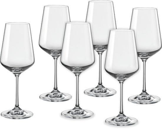 Crystalex sklenice na víno Sandra 350 ml, 6 ks