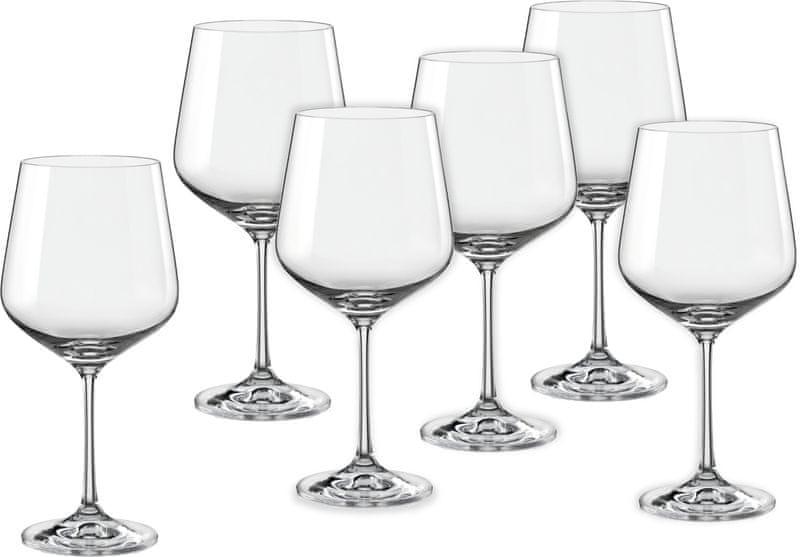 Crystalex sklenice na víno Sandra 570 ml, 6 ks