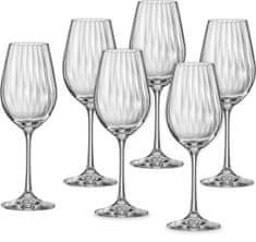 Crystalex poháre na víno Waterfall 350 ml, 6 ks