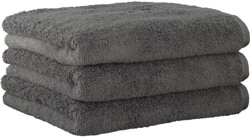 Joop! ručníky UNI 50x100 cm, 3 ks tmavě šedá