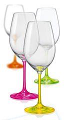 Crystalex čaše za vino Neon, 350 ml, 4 kom
