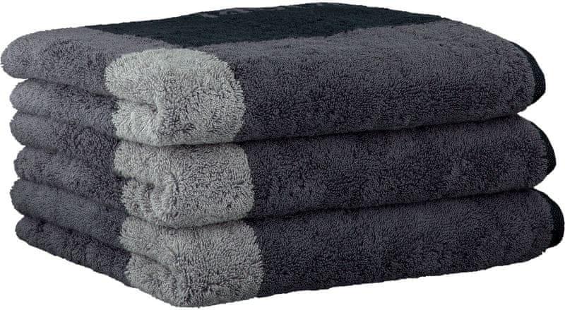 Joop! ručníky Squares 50x100 cm, 3 ks černá