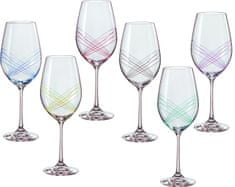 Crystalex set kozarcev za vino Ellipse, 360 ml, 6 kosov