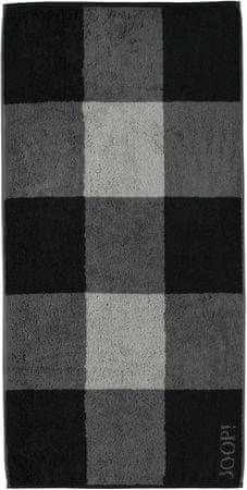 Joop! brisača Squares 80x150 cm, črna