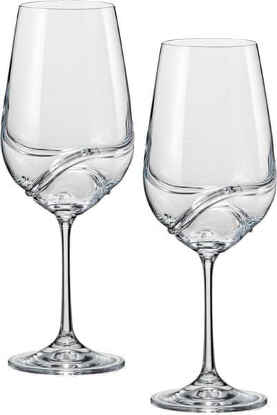 Crystalex sklenice na víno Turbulence 550, 2 ks