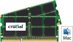 Crucial pomnilnik za prenosnike in Mac 16GB Kit (8GBx2) DDR3L 1333 PC3-10600 CL9 SODIMM