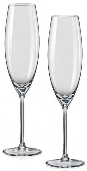 Crystalex kozarci za šampanjec Grandioso, 230 ml, 2 kosa