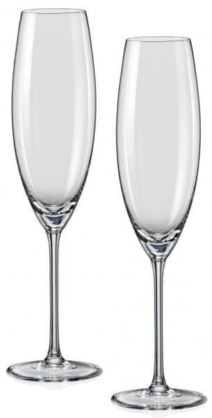 Crystalex sklenice na sekt Grandioso 230 ml, 2 ks