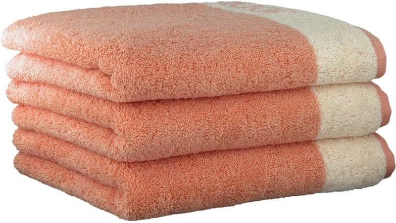 Joop! ručníky Breeze 50x100 cm, 3 ks lososová