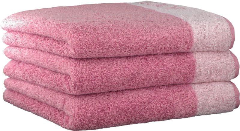 Joop! ručníky Breeze 50x100 cm, 3 ks růžová