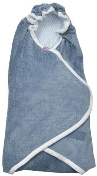 Lodger Wrapper Newborn Scandinavian Flannel, Steel-Grey