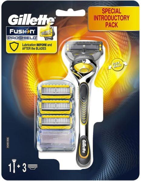 Gillette Fusion Proshield Flexball strojek + 4 hlavice