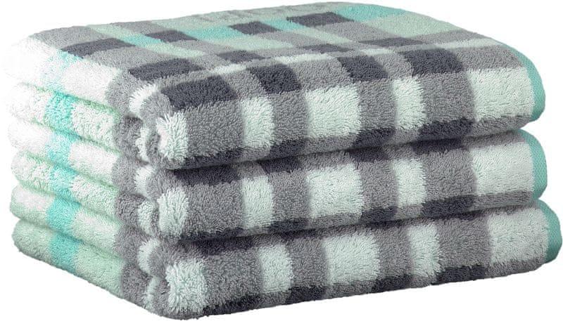 Joop! ručníky Breeze checked 50x100 cm, 3 ks světle modrá