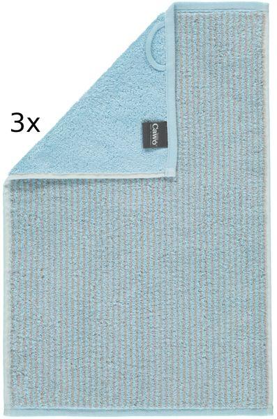Cawö Frottier ručníky Easy proužky 50x100 cm, 3 ks světle modrá