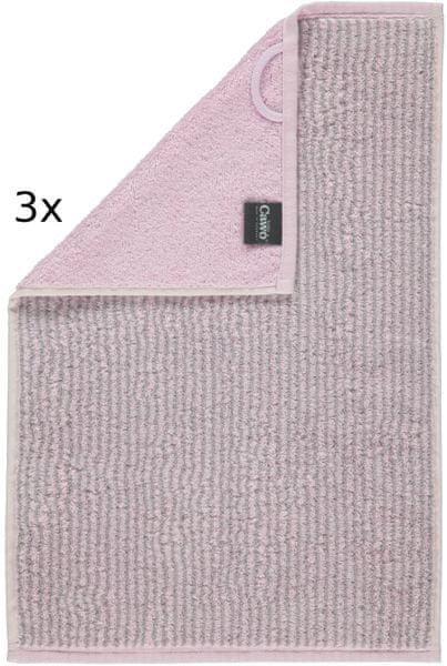 Cawö Frottier ručníky Easy proužky 50x100 cm, 3 ks růžová