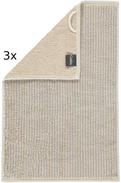 Cawö Frottier ručníky Easy proužky 50x100 cm, 3 ks béžová