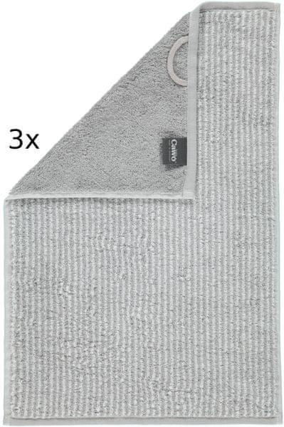 Cawö Frottier ručníky Easy proužky 50x100 cm, 3 ks šedá