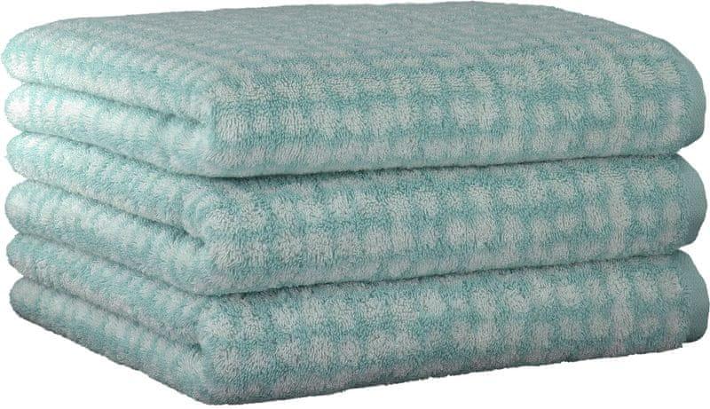 Cawö Frottier ručníky Struktur 50x100 cm, 3 ks modrá
