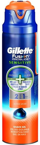 Gillette Fusion ProGlide gel Sensitive Active Sport 170 ml