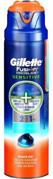 Gillette Fusion ProGlide gel Sensitive Ocean Breeze 170 ml