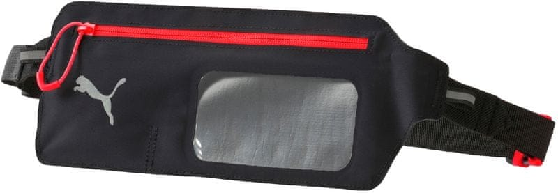 Puma PR Flat Waist Bag Puma Black-Asphalt-Red