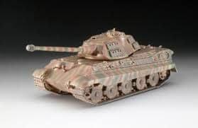 REVELL 03138 ModelKit Tiger II Ausf. B (Porsche Prototype Turret) Modell, 1:72