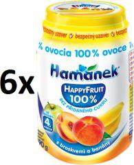 Hamánek Happy Fruit s broskvemi a banány 6x190g