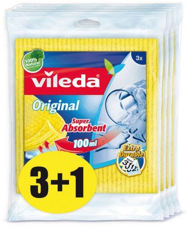 VILEDA Hubková handrička 3 ks, balenie 3 + 1