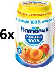 Hamánek Happy Fruit s marhuľami a broskyňami 6x190g