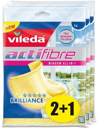 VILEDA Actifibre mikro handrička na okná 1 ks, balenie 2 + 1