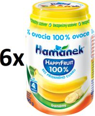 Hamánek Happy Fruit s banány 6x190g