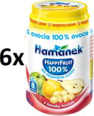 Hamánek Happy Fruit s kousky hrušek 6x190g